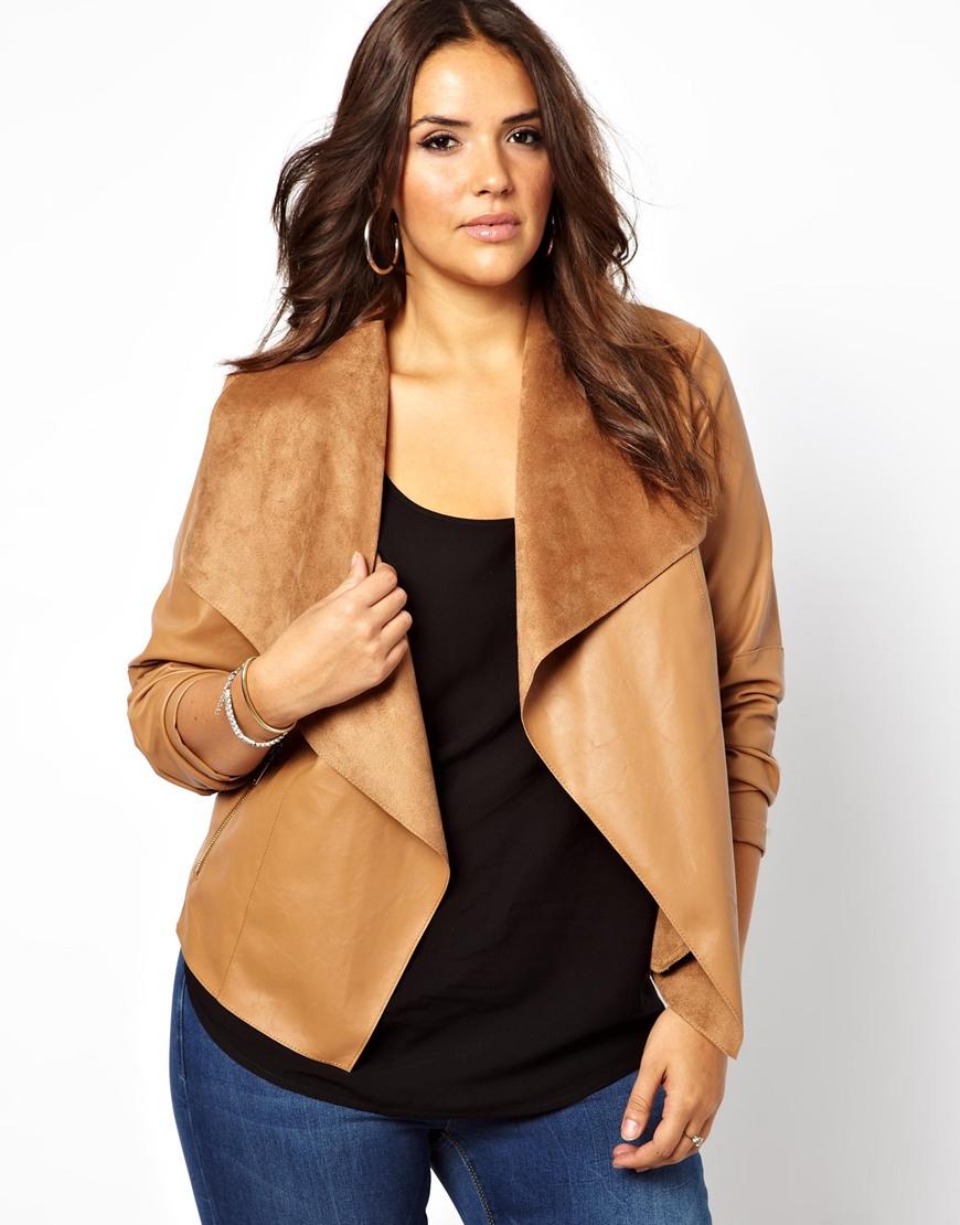 Which modern dressbarn - Plus Size Tan Leather Look Jacket Modern Fashion Jacket Photo Blog