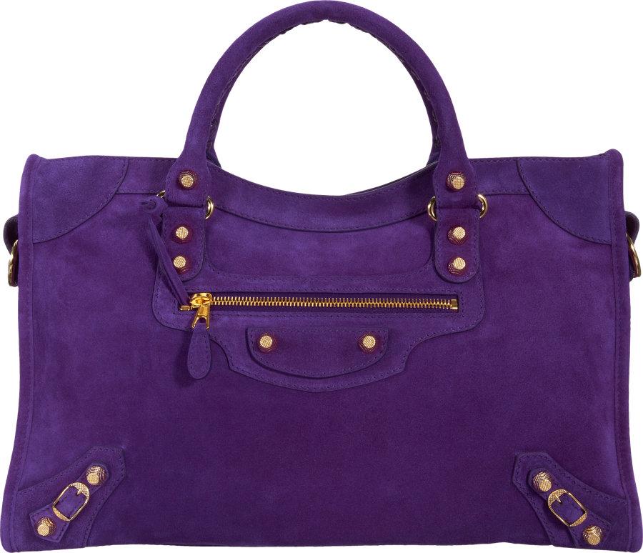 Balenciaga Baby Daim Giant 12 Gold City in Purple silver