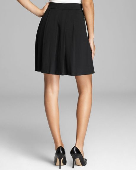 eileen fisher pleated skirt in black lyst