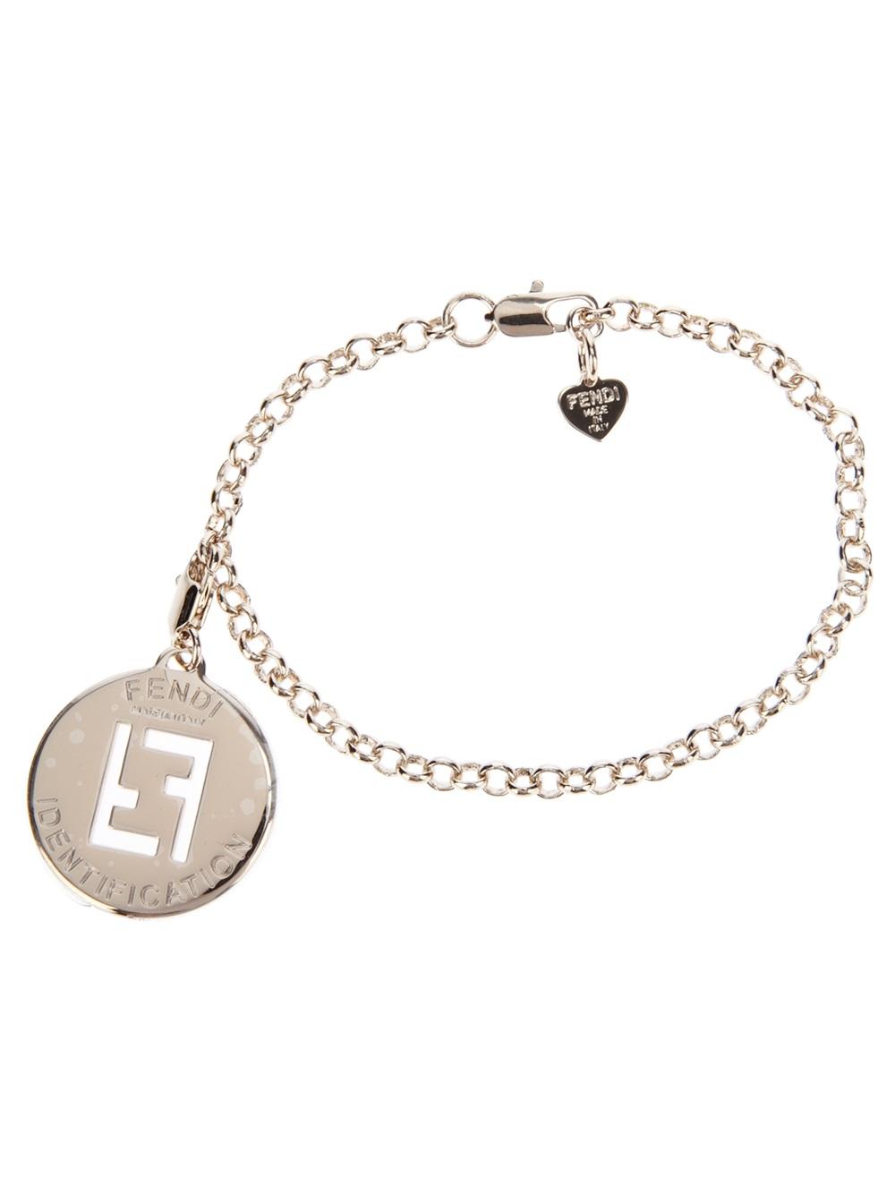 charm bracelet - Metallic Fendi 4Ew6kP4hCU