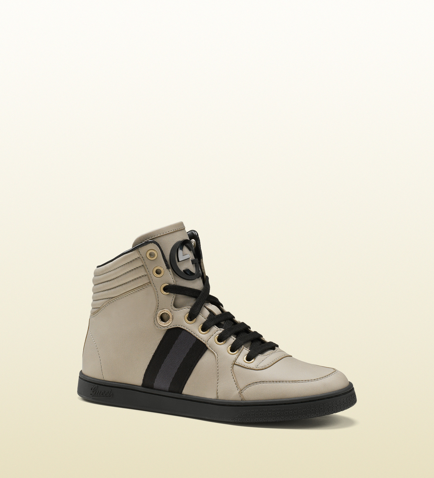 Lyst - Gucci Women s High-top Sneaker From Viaggio Collection in Gray 26cf2773d