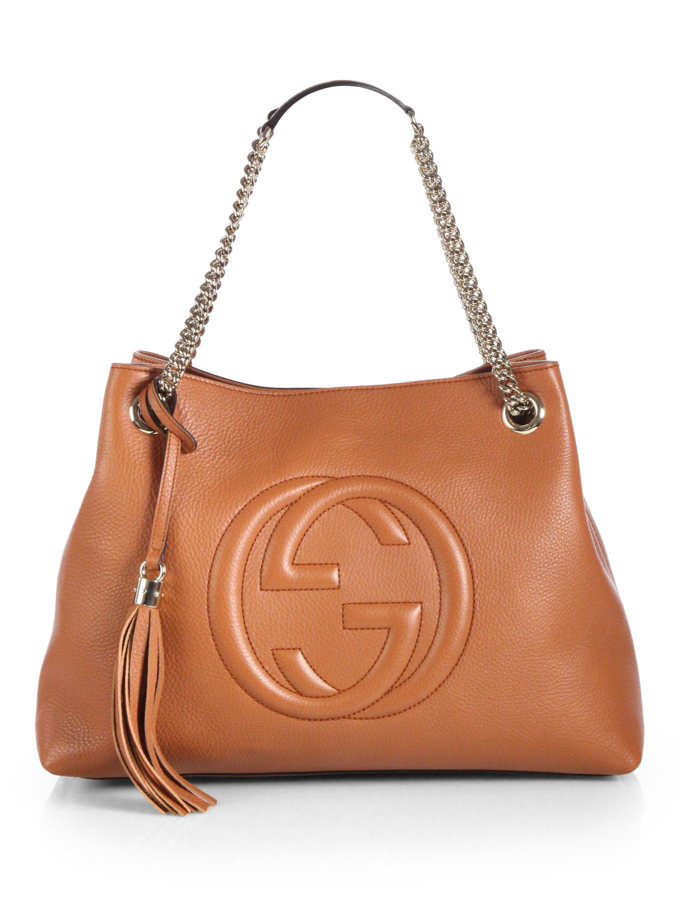 bf1740000a8 Lyst - Gucci Soho Leather Shoulder Bag in Brown