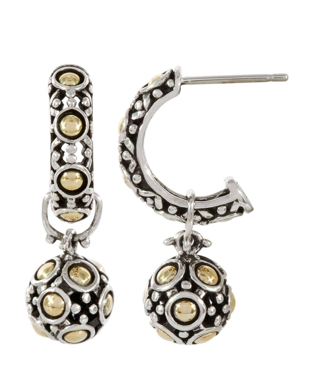 John Hardy Dot Silver Open Hoop Earrings LbKiku