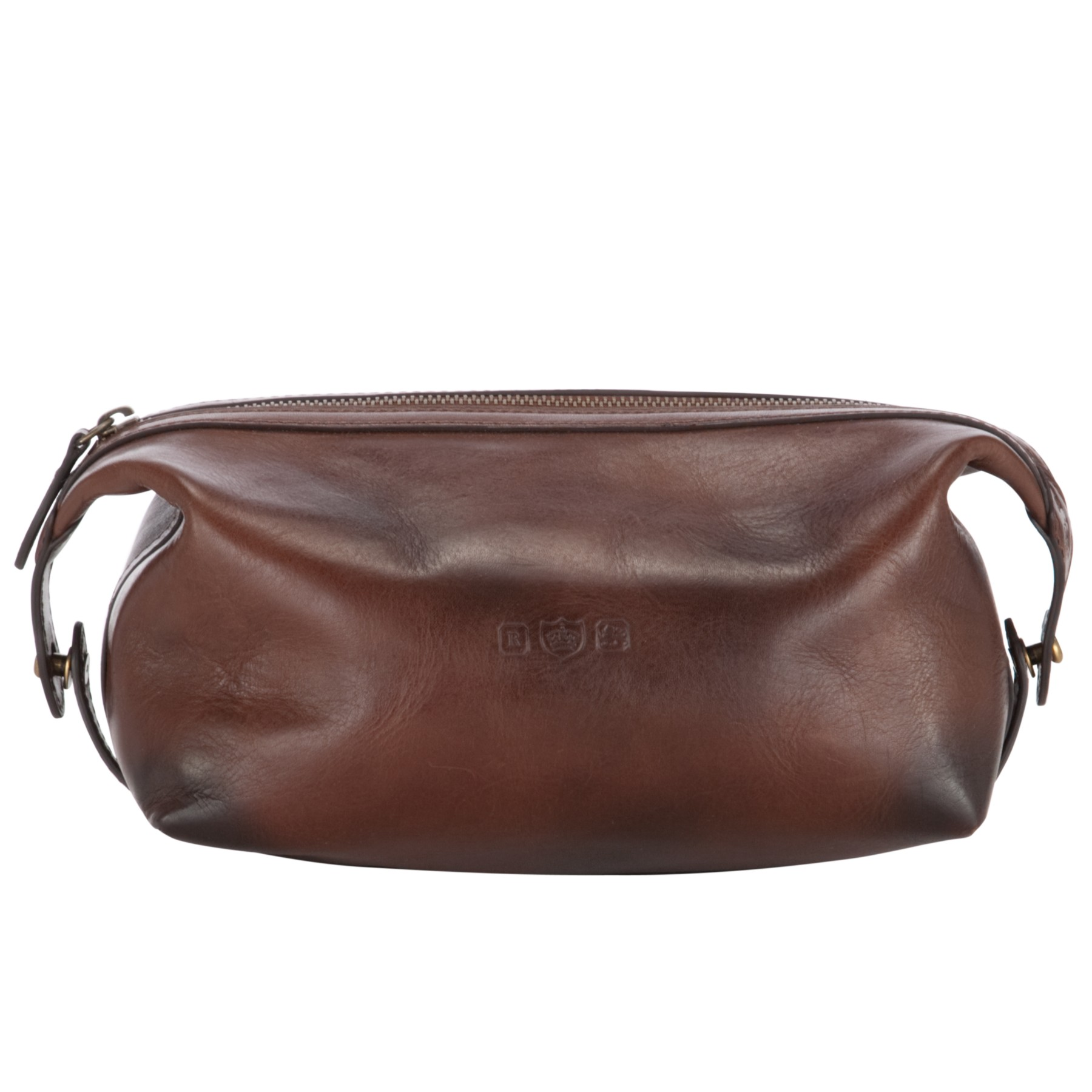 3220d865c0 Polo Ralph Lauren Leather Wash Bag in Brown for Men - Lyst