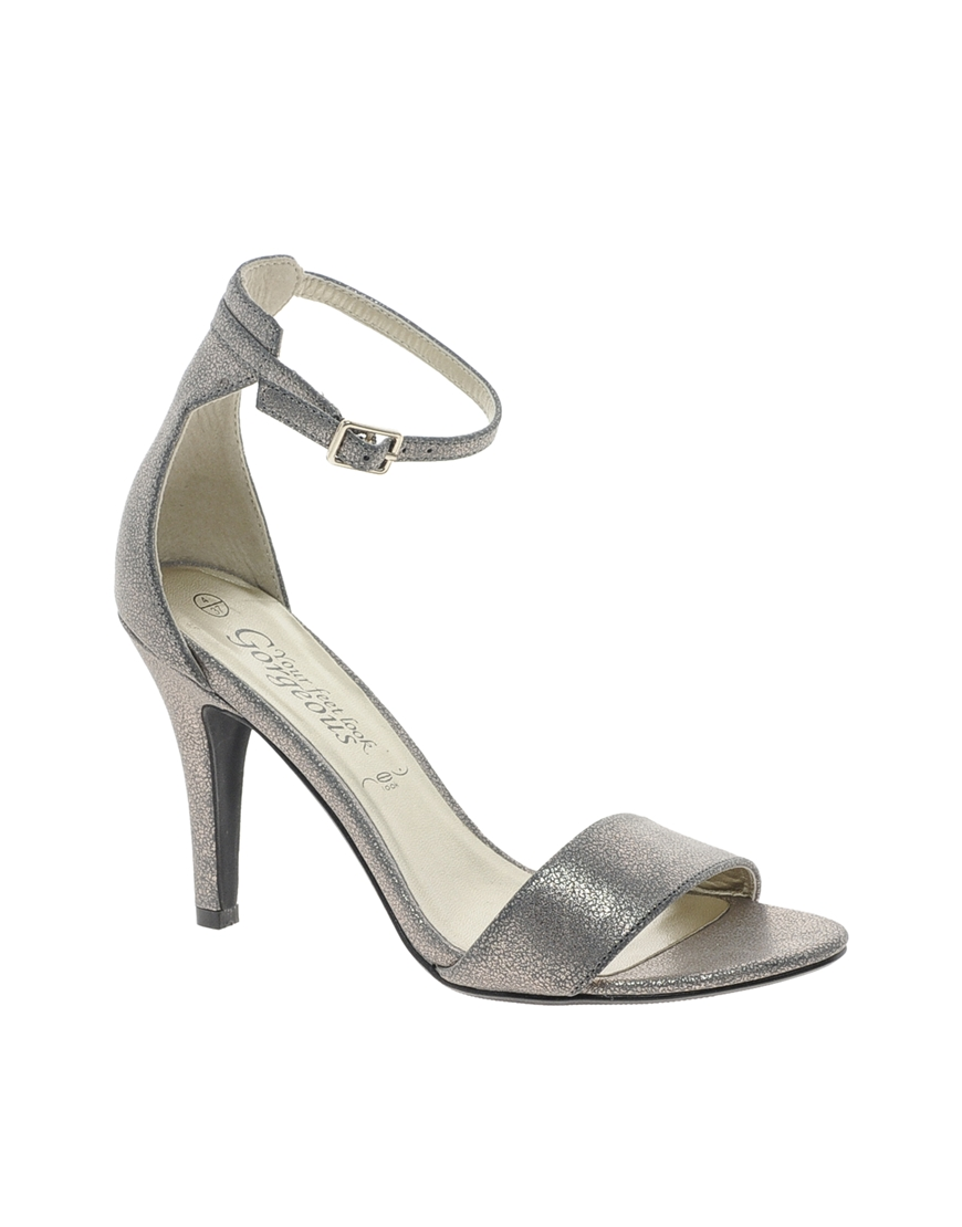 cd2e52c0341 ASOS New Look Silver Stylish 3 Single Sole Strap Sandals in Metallic ...
