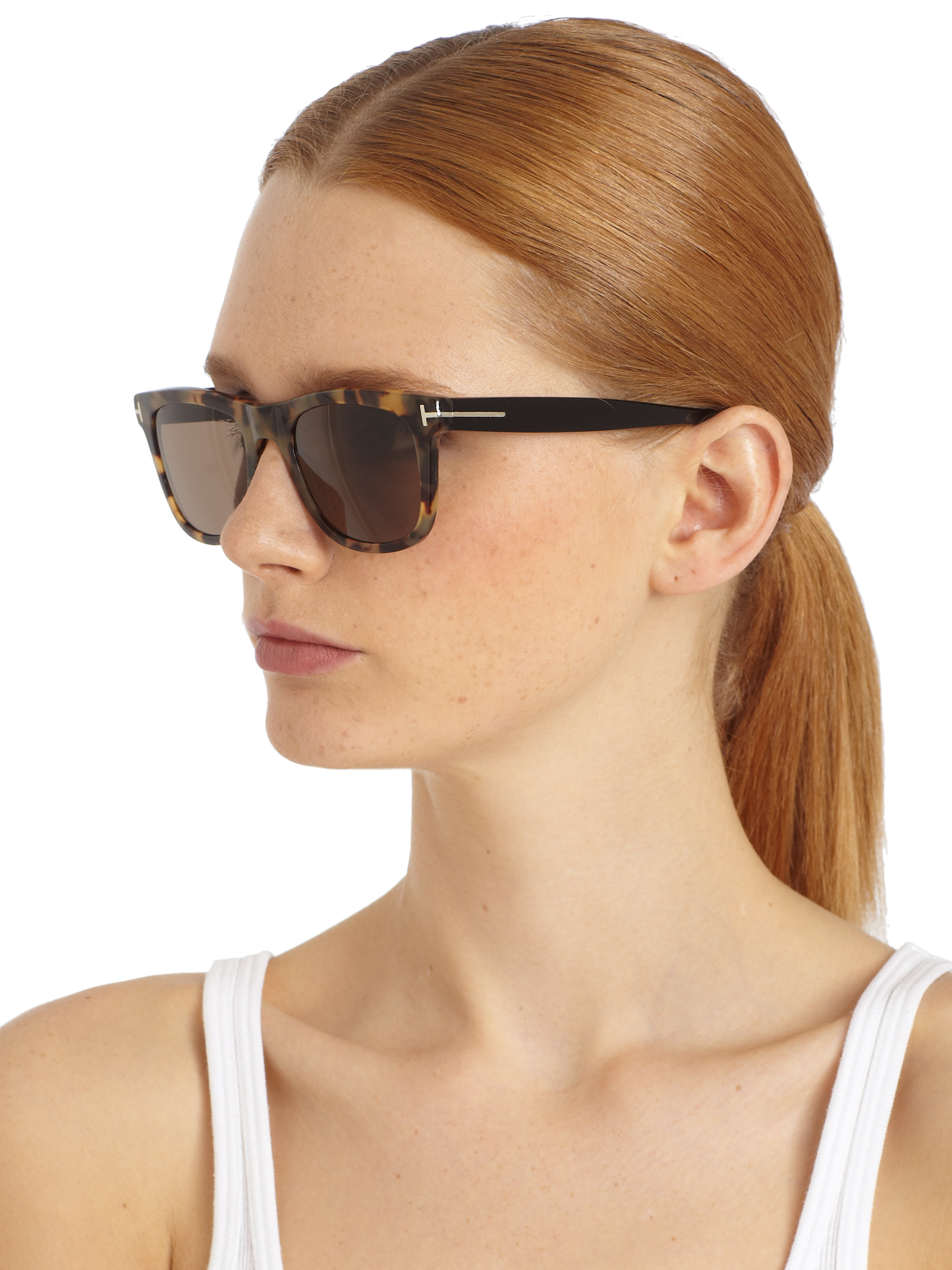5cd517905a7 Gallery. Previously sold at  Saks Fifth Avenue · Women s Ray Ban Clubround Women s  Tom Ford Raquel Women s Acetate Sunglasses ...