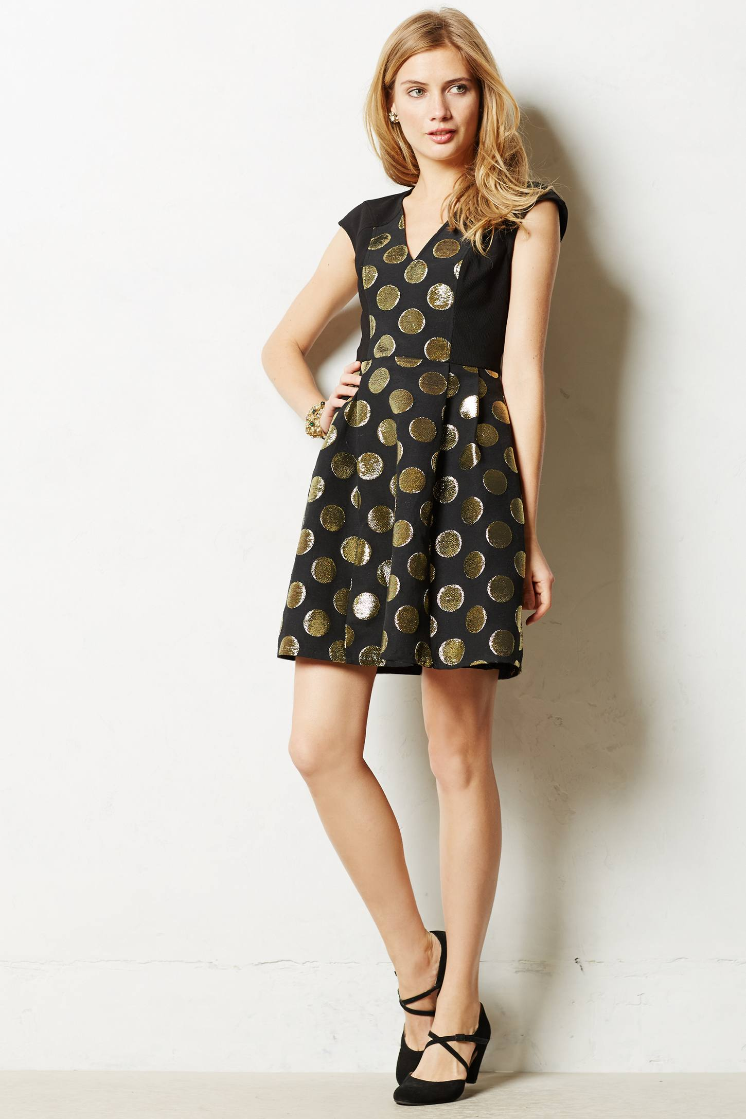 Lyst Tracy Reese Gold Rush Jacquard Dress In Black