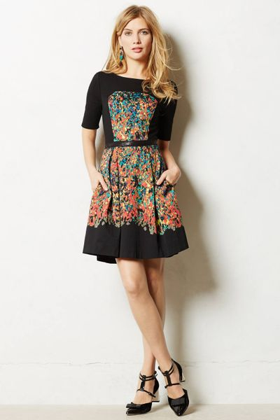 Tracy Reese Etude Dress In Black Red Motif Lyst