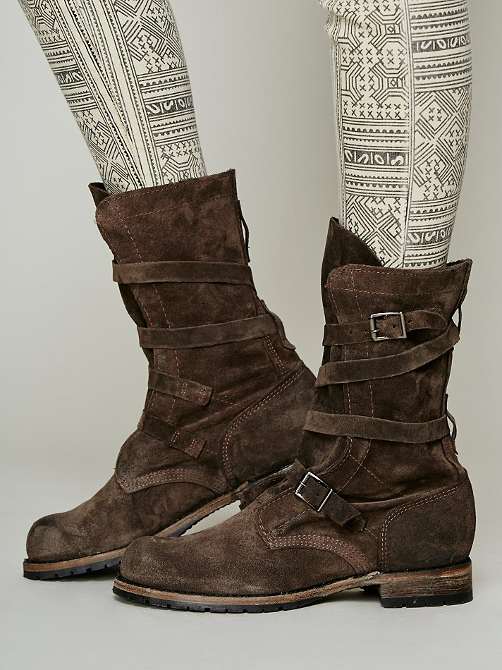 vintage shoe company rayna wrap boot in gray lyst