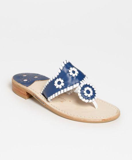 2ba2befbcb4 Jack Rogers Palm Beach Sandal in Blue (Royal White)