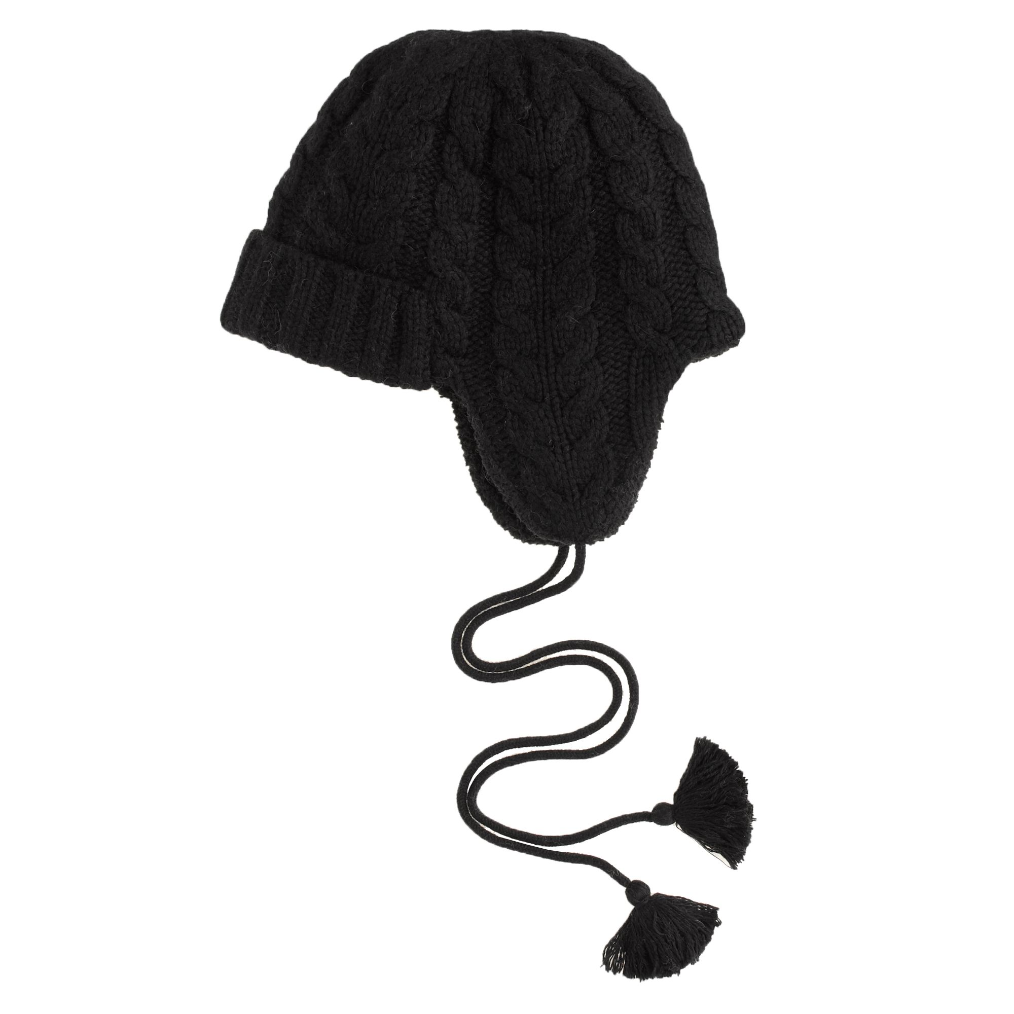 294726ae6 Lyst - J.Crew Cableknit Trapper Hat in Black
