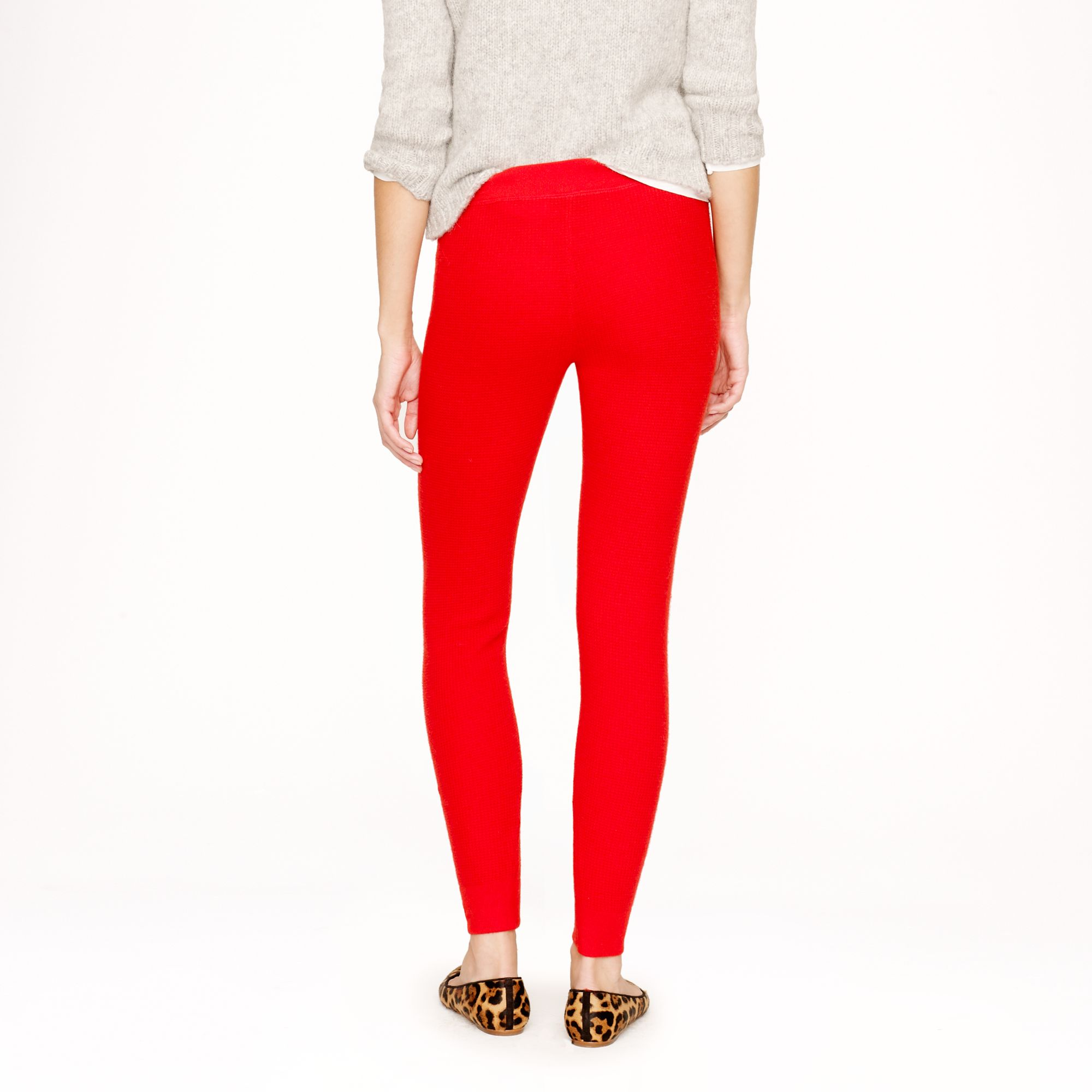 aee217f388112 J.Crew Collection Cashmere Waffle Leggings in Red - Lyst