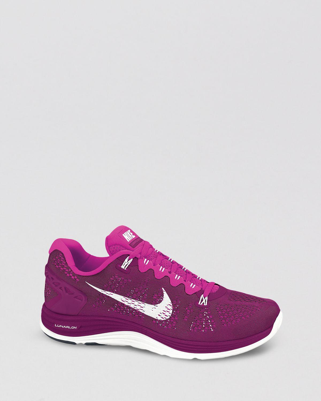 best sneakers 38283 c411f Nike Lace Up Sneakers Womens Lunarglide 5 in Purple - Lyst