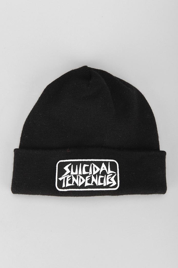 7c02cdddb83a3 Urban Outfitters Obey X Suicidal Tendencies Propaganda Beanie in Black for  Men - Lyst