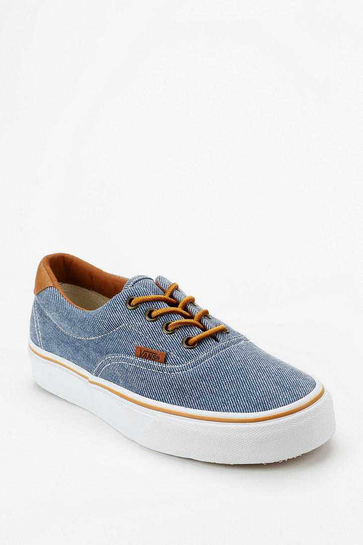 vans era 59 blue washed twill pants
