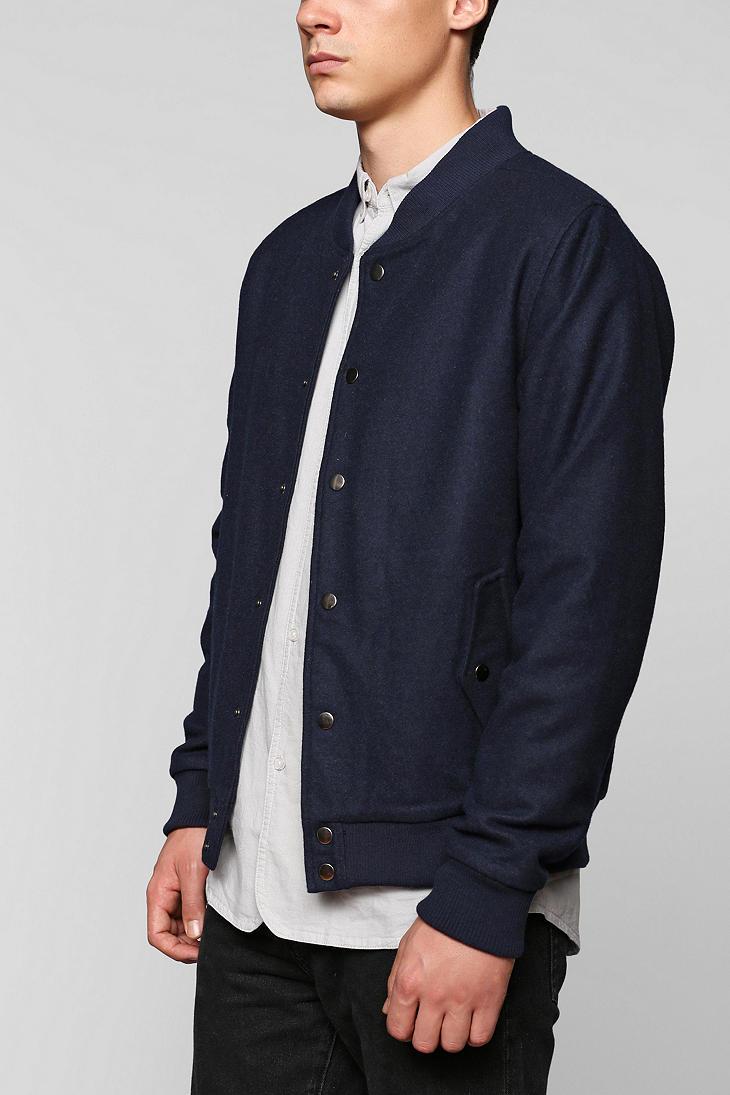 Navy Baseball Jacket