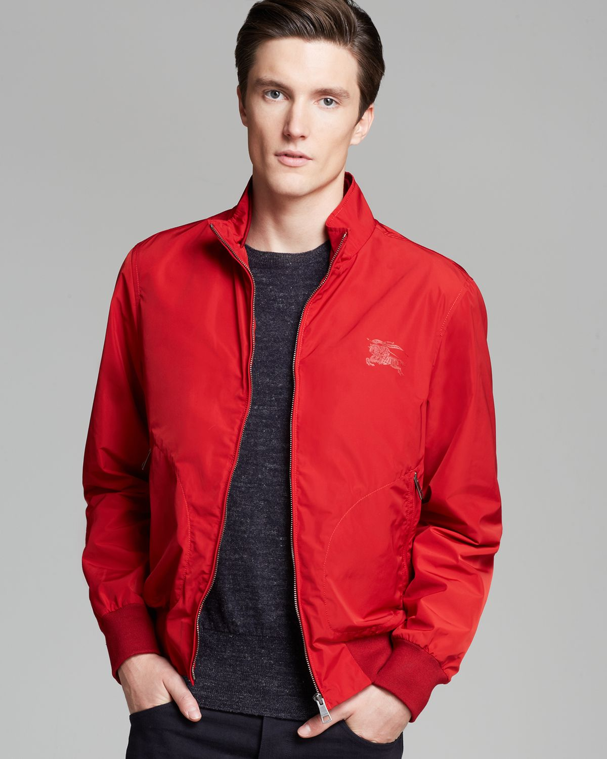 Burberry Brit Bradford Lightweight Jacket in Red for Men | Lyst