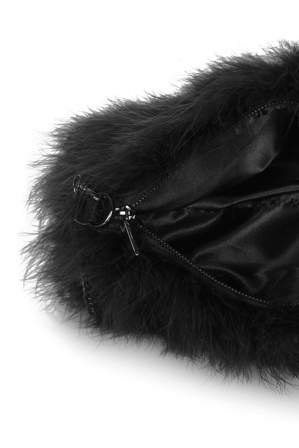 Topshop Marabou Feather Bag in Black - Lyst 9196a32805365