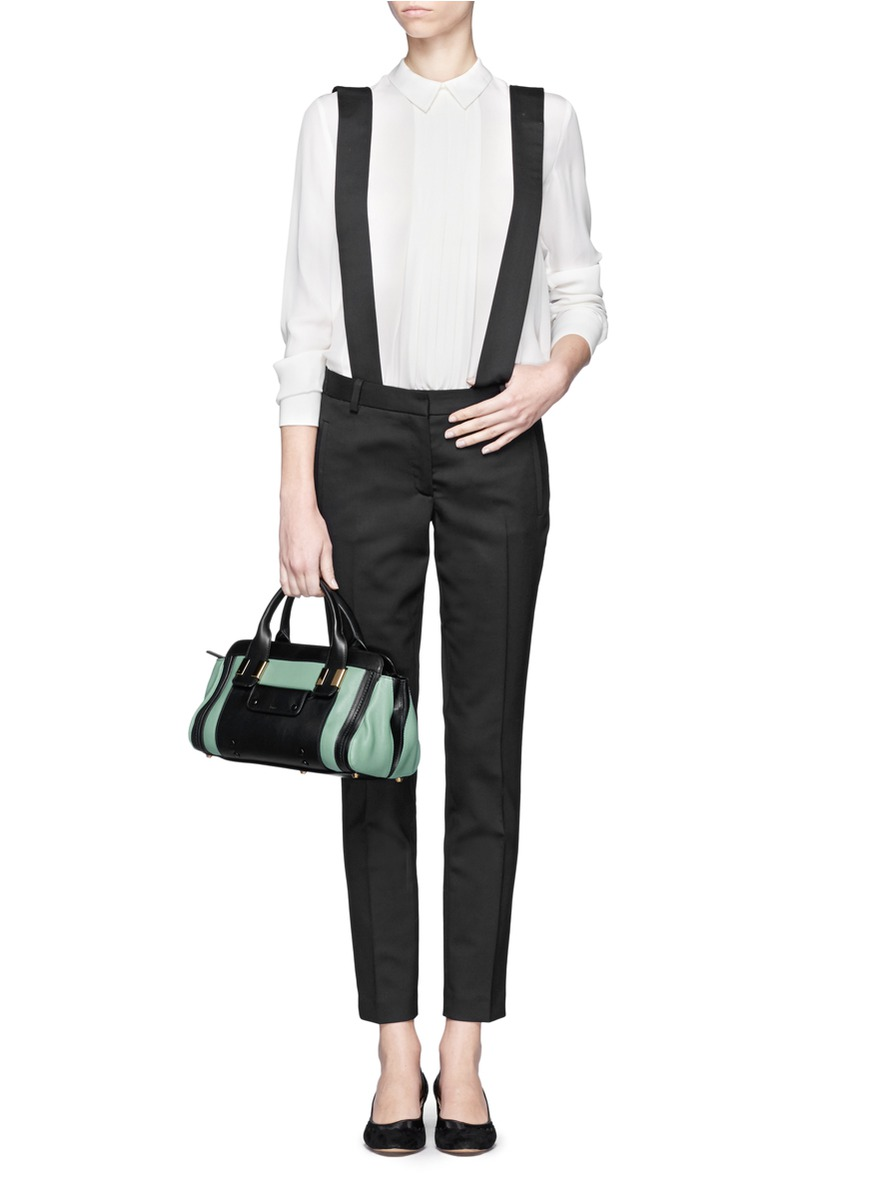 chloe replica handbags - Chlo�� Alice Two-tone Small Leather Bag in Multicolor (Multi-colour ...