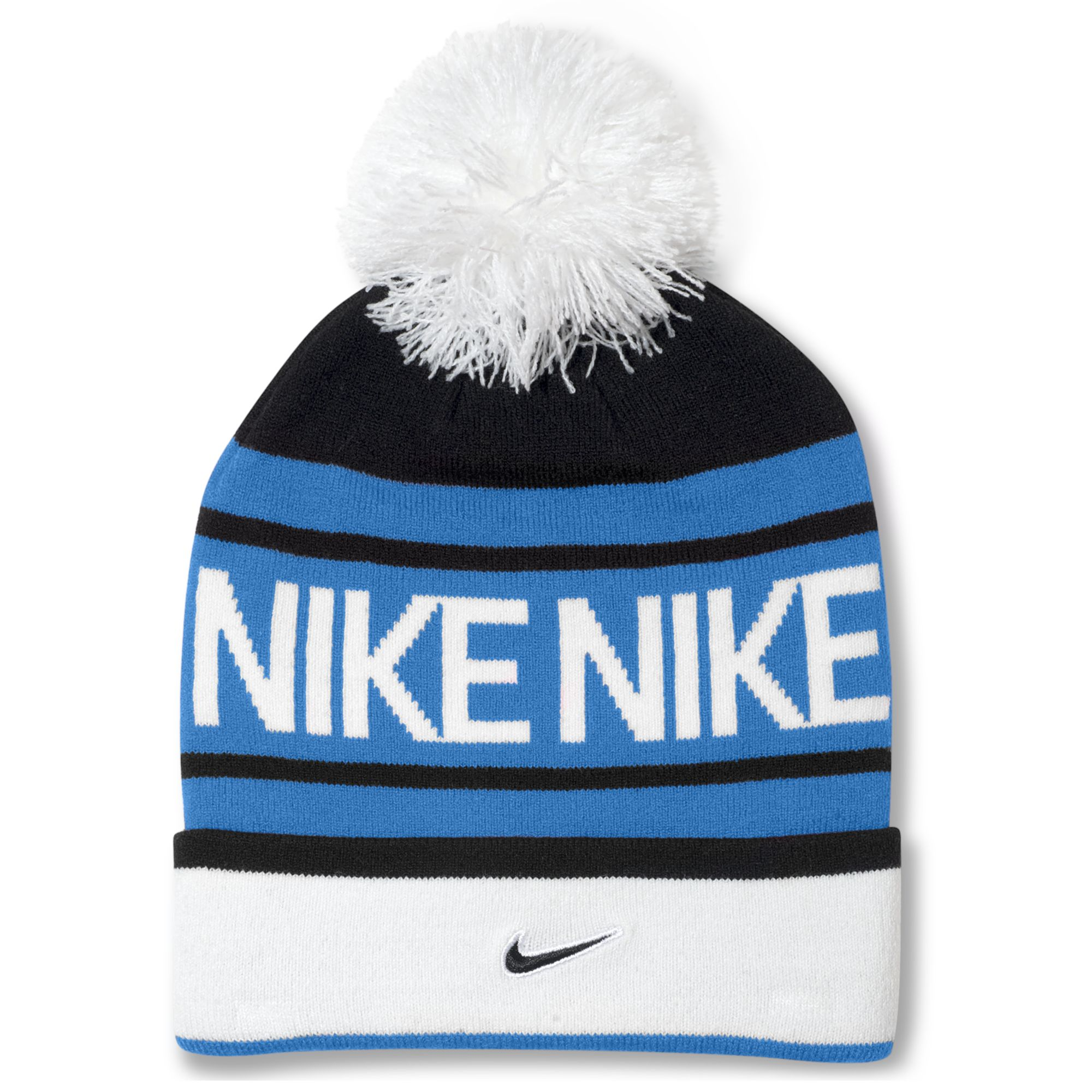 5dc90a5f Nike Pom Pom Beanie in Blue for Men - Lyst