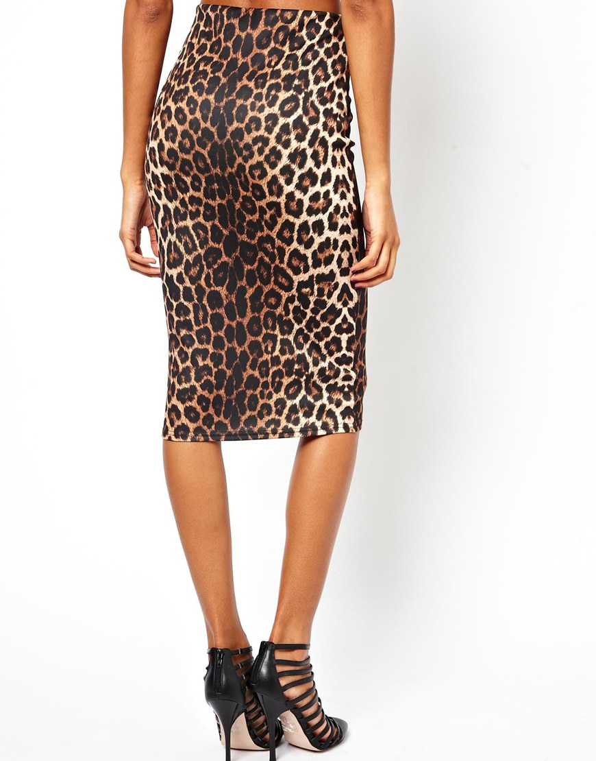 Leopard Print Pencil Skirt - Skirts