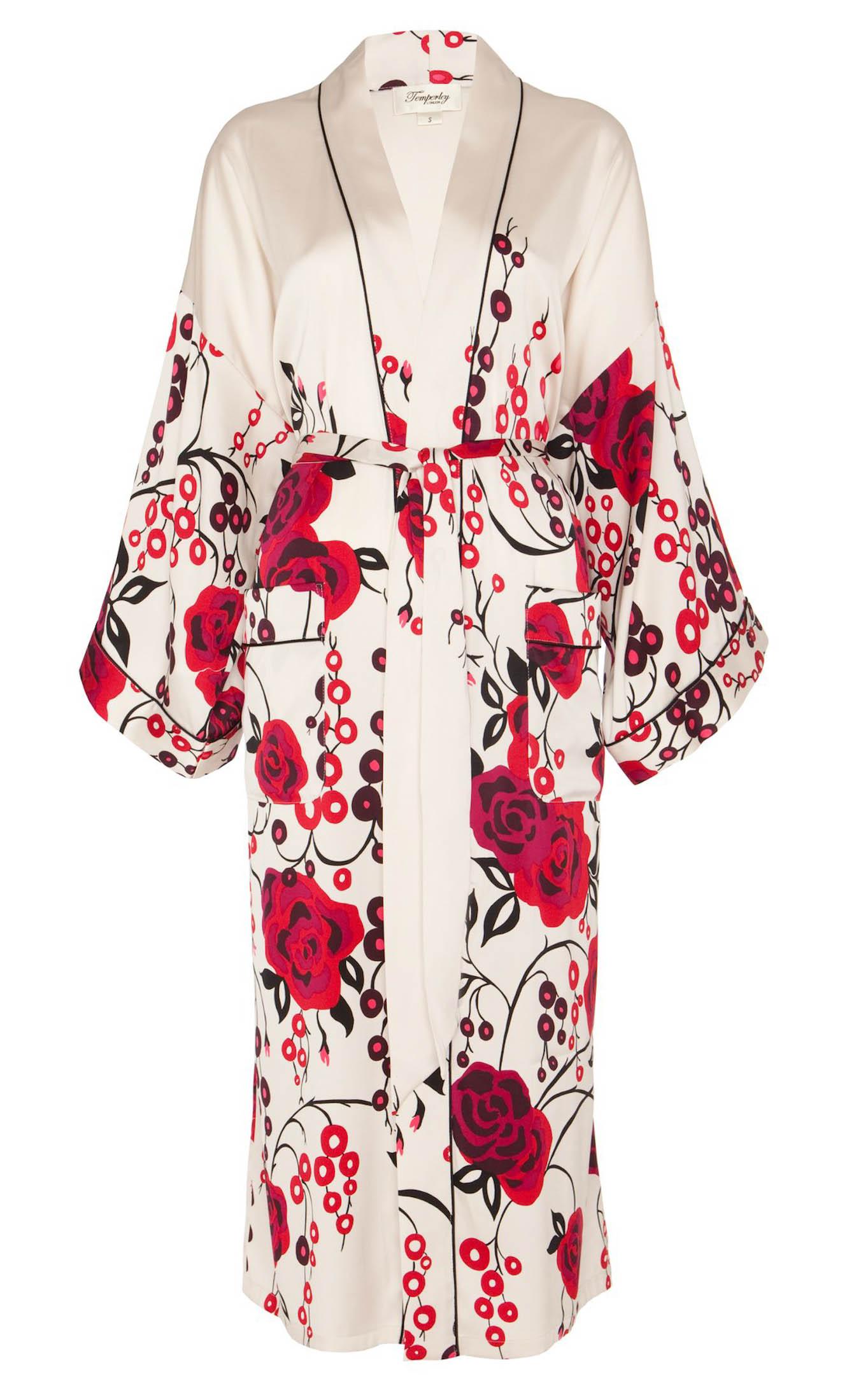 Lyst - Temperley London Kimono Dressing Gown in Black