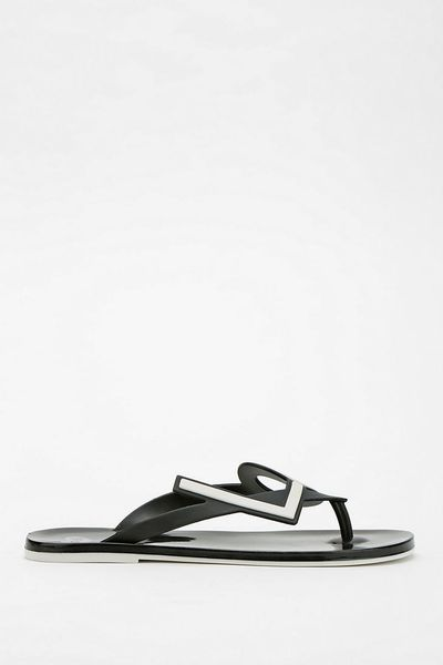 Urban Outfitters Mel By Melissa Shoes Love Thong Sandal in Black