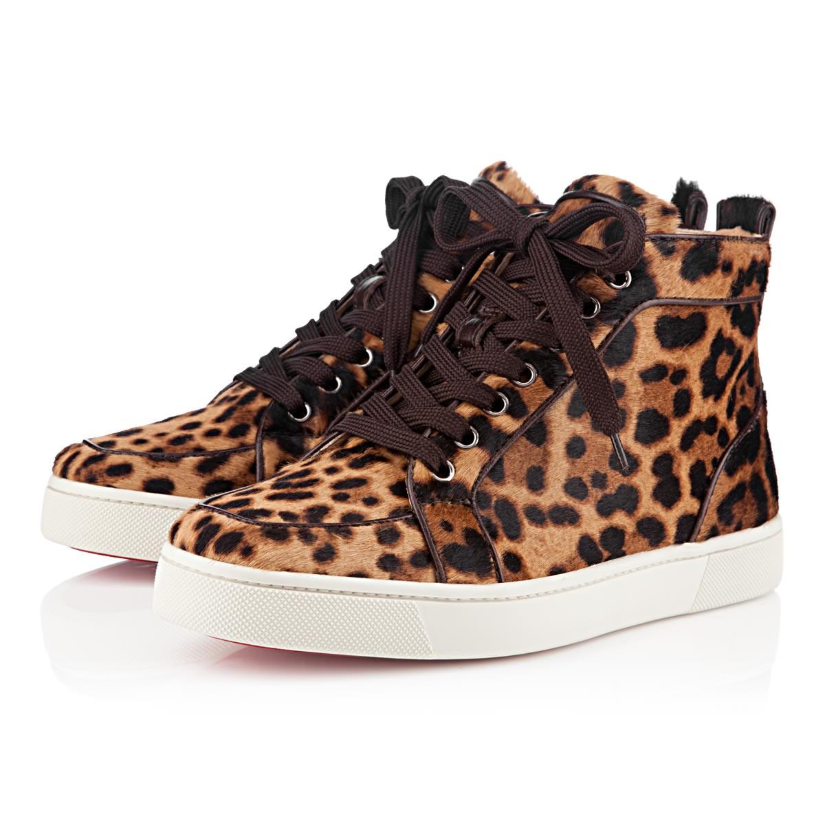 louboutin basket leopard
