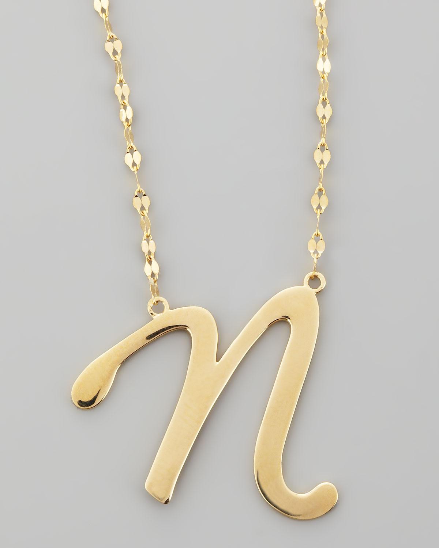 Lyst lana jewelry 14k gold letter necklace in metallic gallery aloadofball Gallery