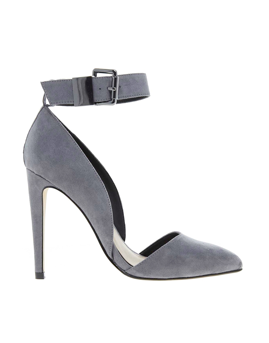 Asos Photoshoot Pointed High Heels in Gray | Lyst
