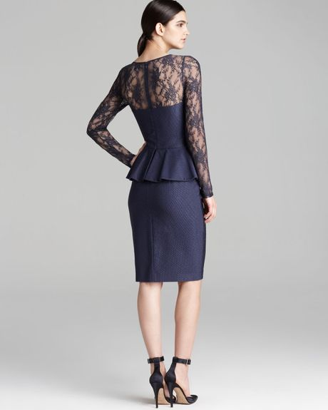 Navy David Meister Lace