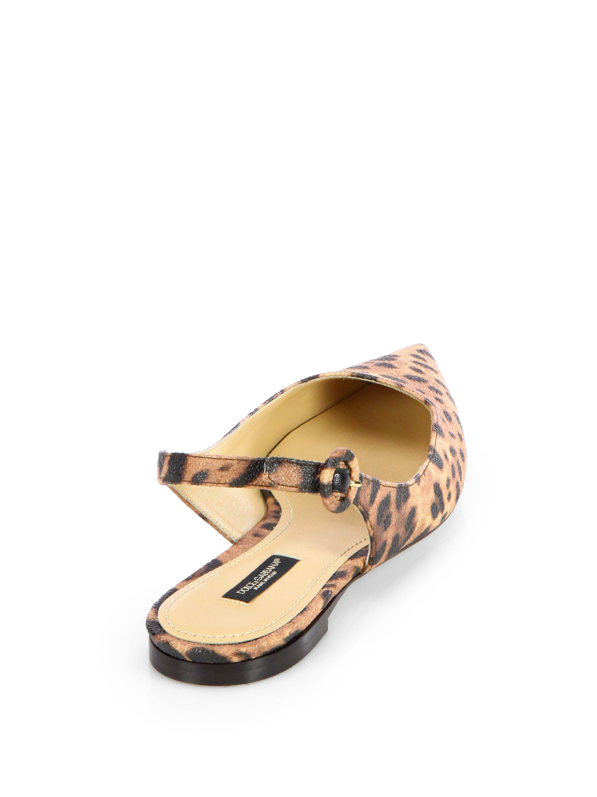 cheap price cost clearance factory outlet Dolce & Gabbana Leopard Slingback Flats discount enjoy order online co7xkI