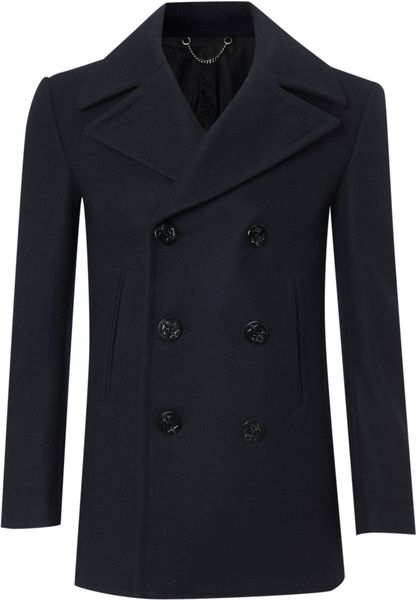 Farrell Doublebreasted Naval Peacoat in Blue for Men (navy)