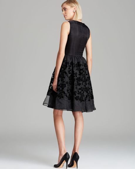 French Connection Dress Velveteen Rose In Black Lyst