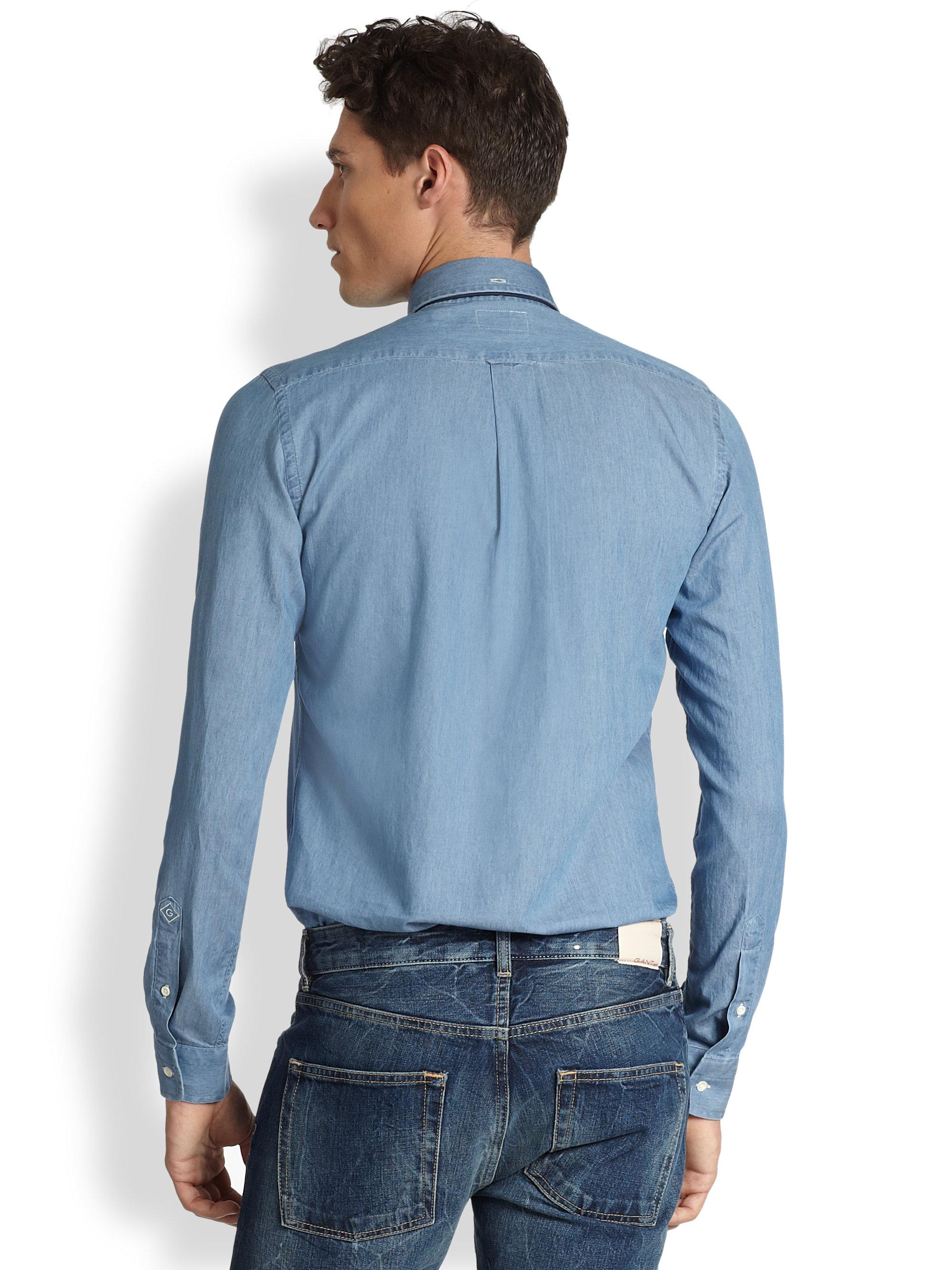 e32e62c6df4 Gant Rugger Luxury Indigo Shirt in Blue for Men - Lyst