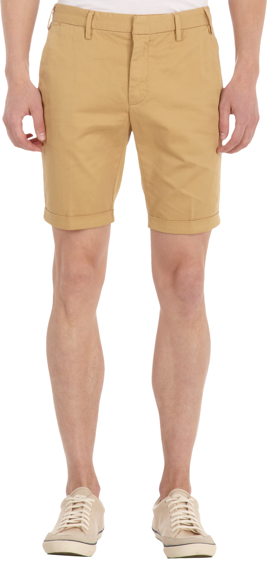 Gant rugger Cuffed Chino Shorts in Natural for Men | Lyst