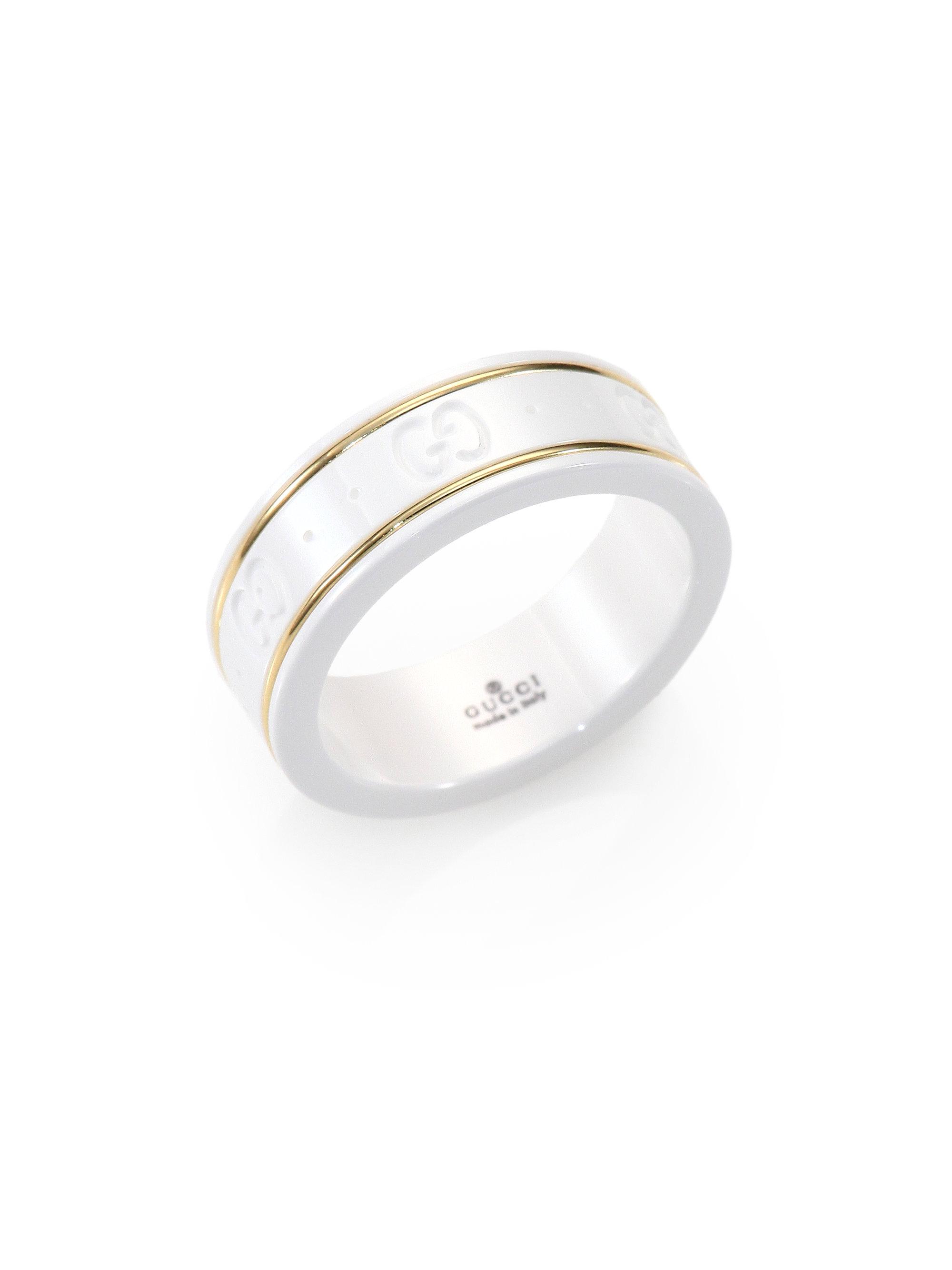 Gucci 18k White Gold Bracelet Gucci Icon 18k Yellow Gold