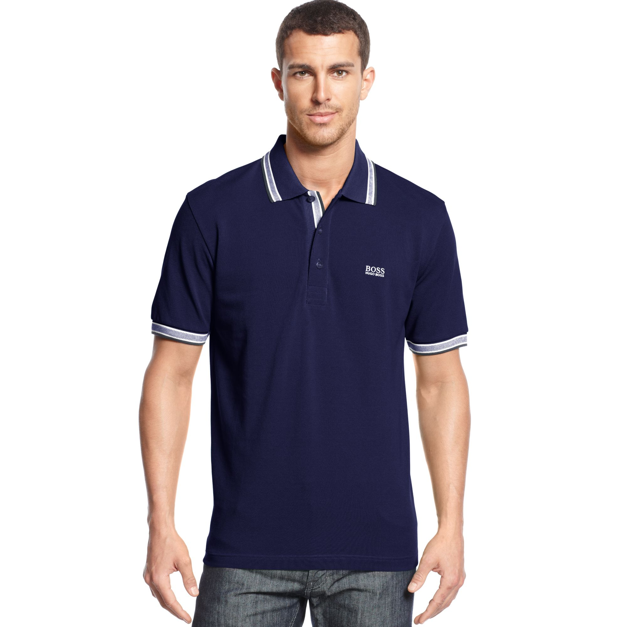 hugo green polo shirt paddy polo modern fit in blue for nightwatch lyst