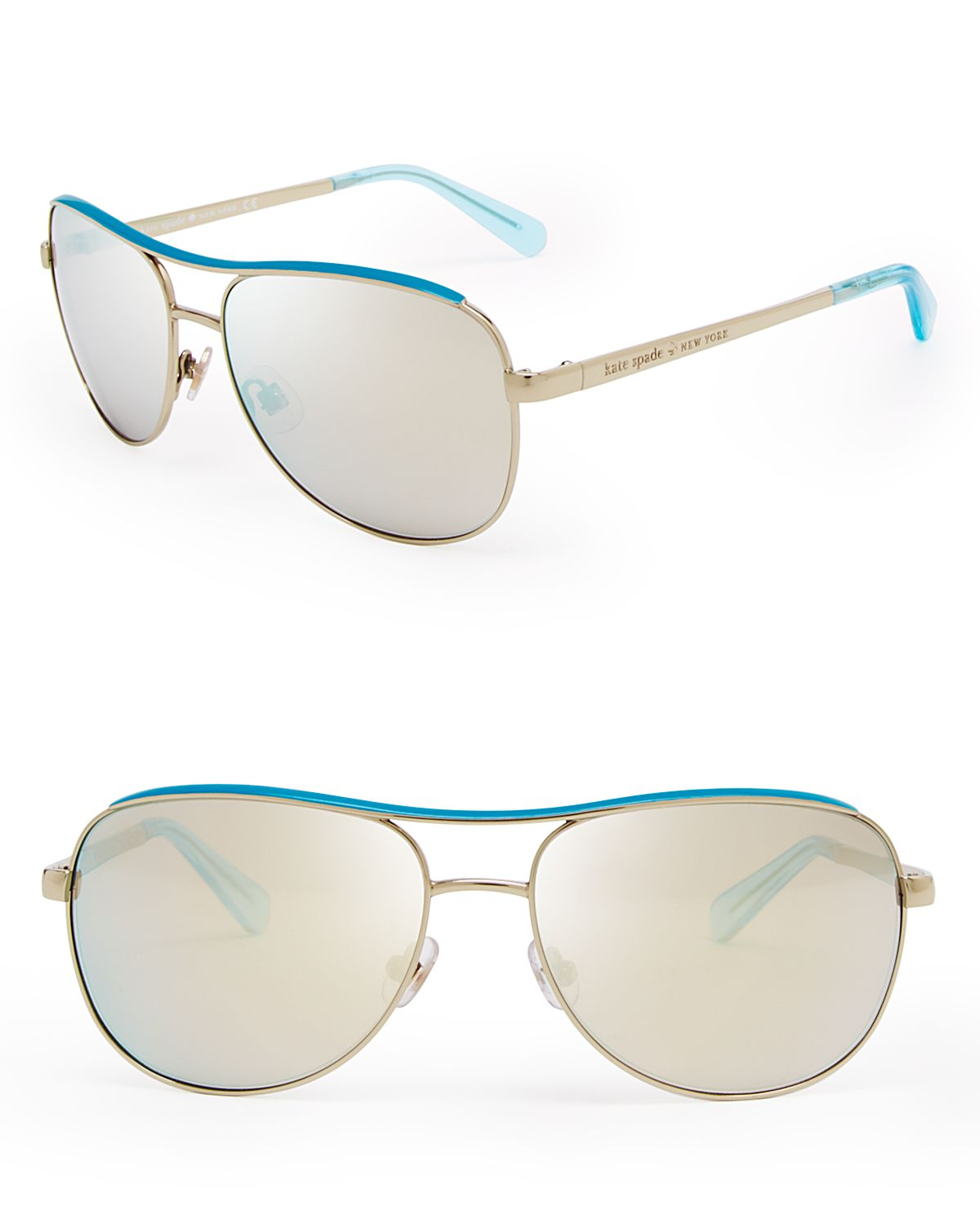 Kate spade new york dusty mirrored aviator sunglasses in for Mirror spades