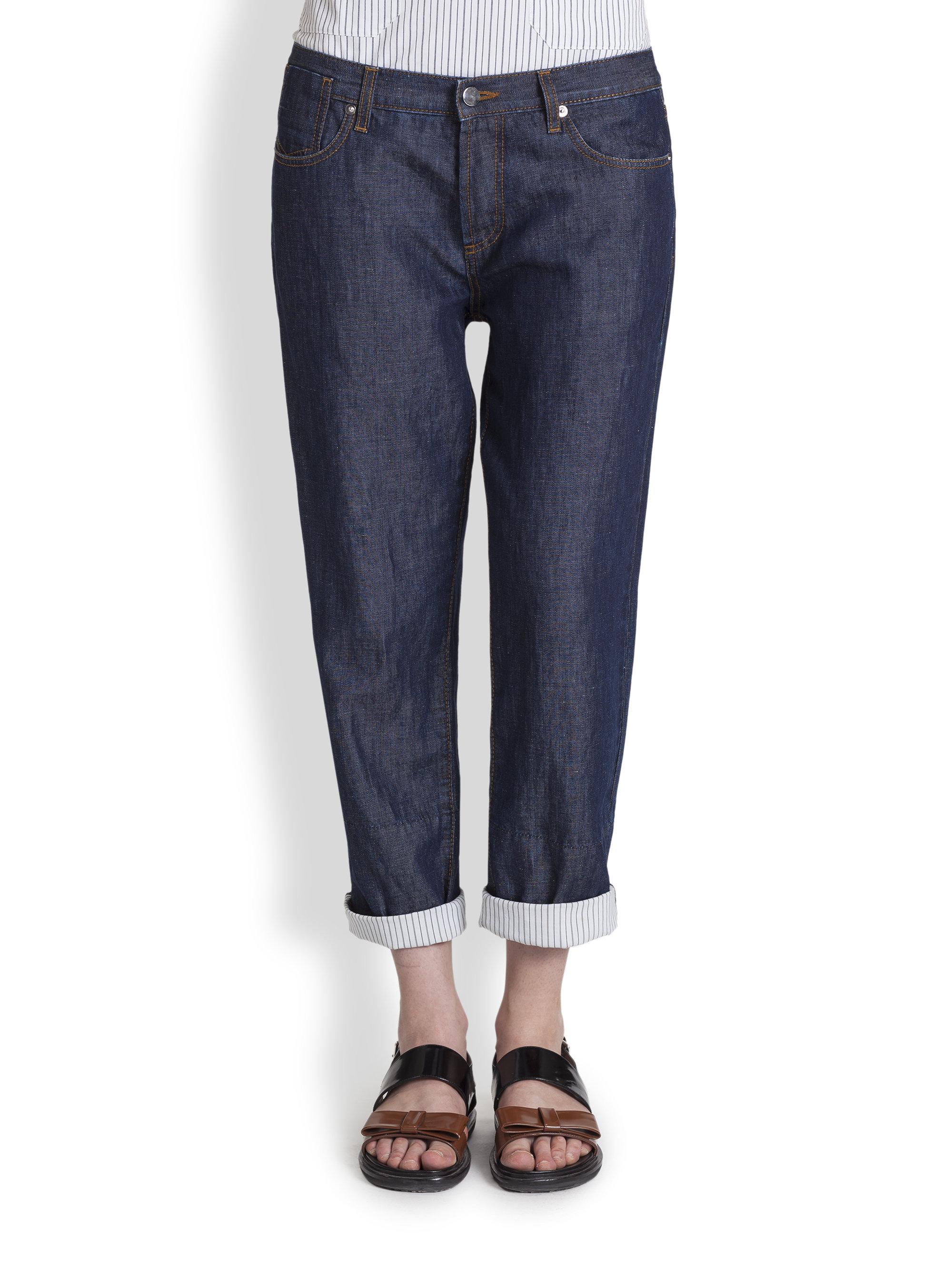 Jeans Boyfriend Blue Marni Lyst Denim In BzqUHxn8W