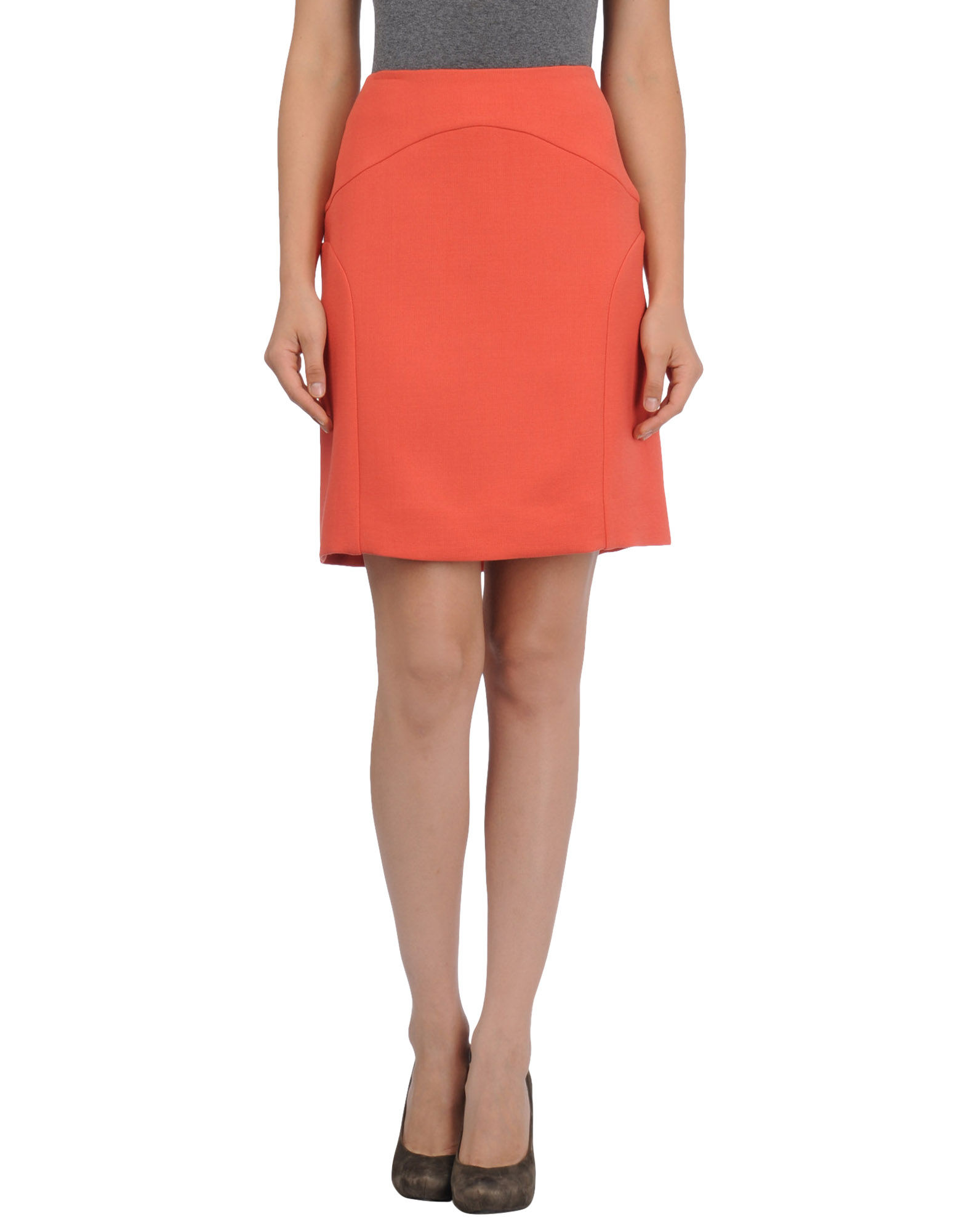 marni knee length skirts in orange coral lyst