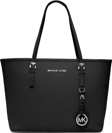 michael by michael kors small jet set travel tote in black. Black Bedroom Furniture Sets. Home Design Ideas