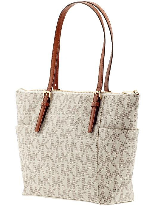 2ace2386c49b michael kors large jet set signature top zip tote how old is bags ...