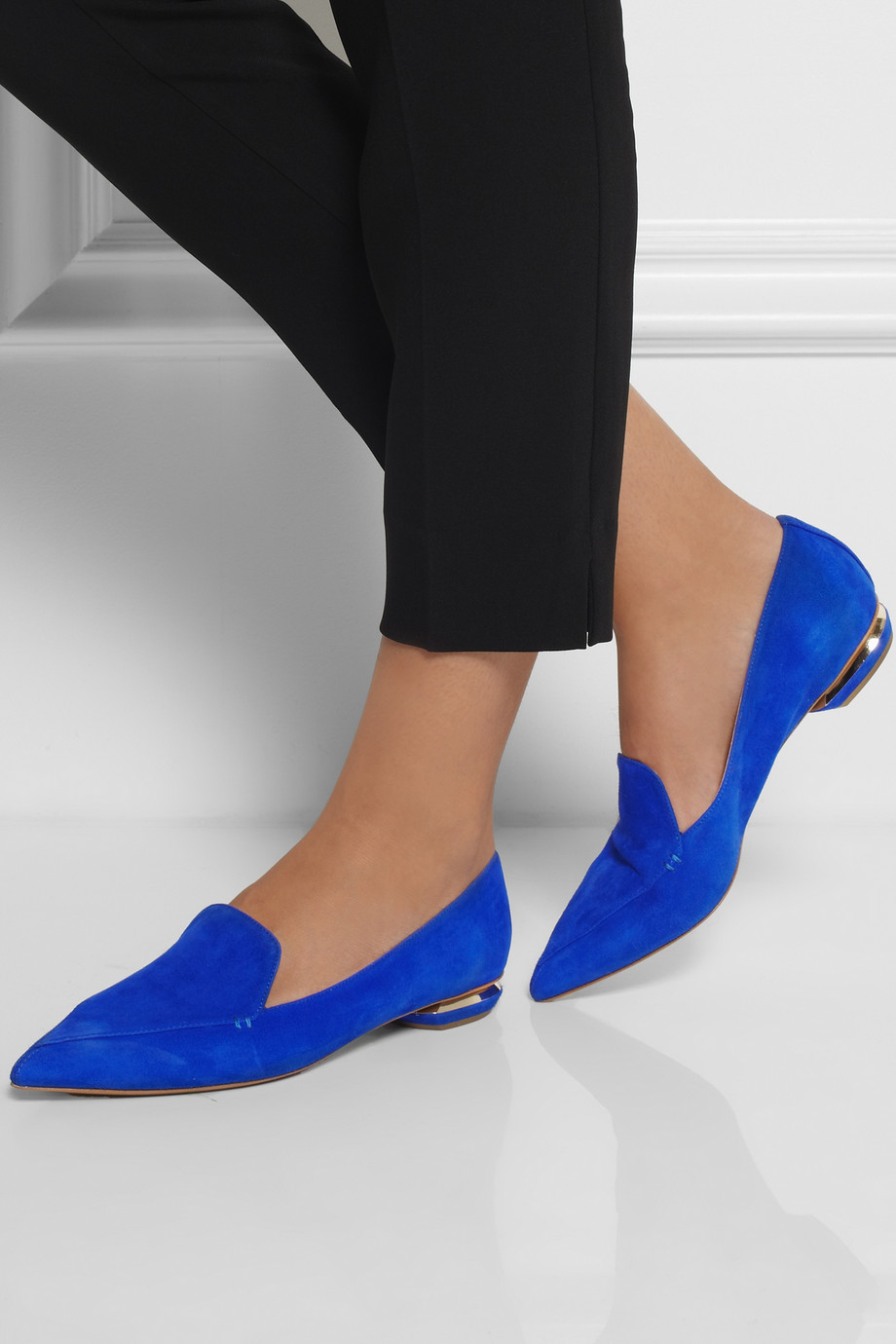 cheap sale high quality 100% authentic sale online Nicholas Kirkwood Pointed-Toe Studded Flats outlet comfortable for sale cheap authentic cheap price store VmZzRtSW4z