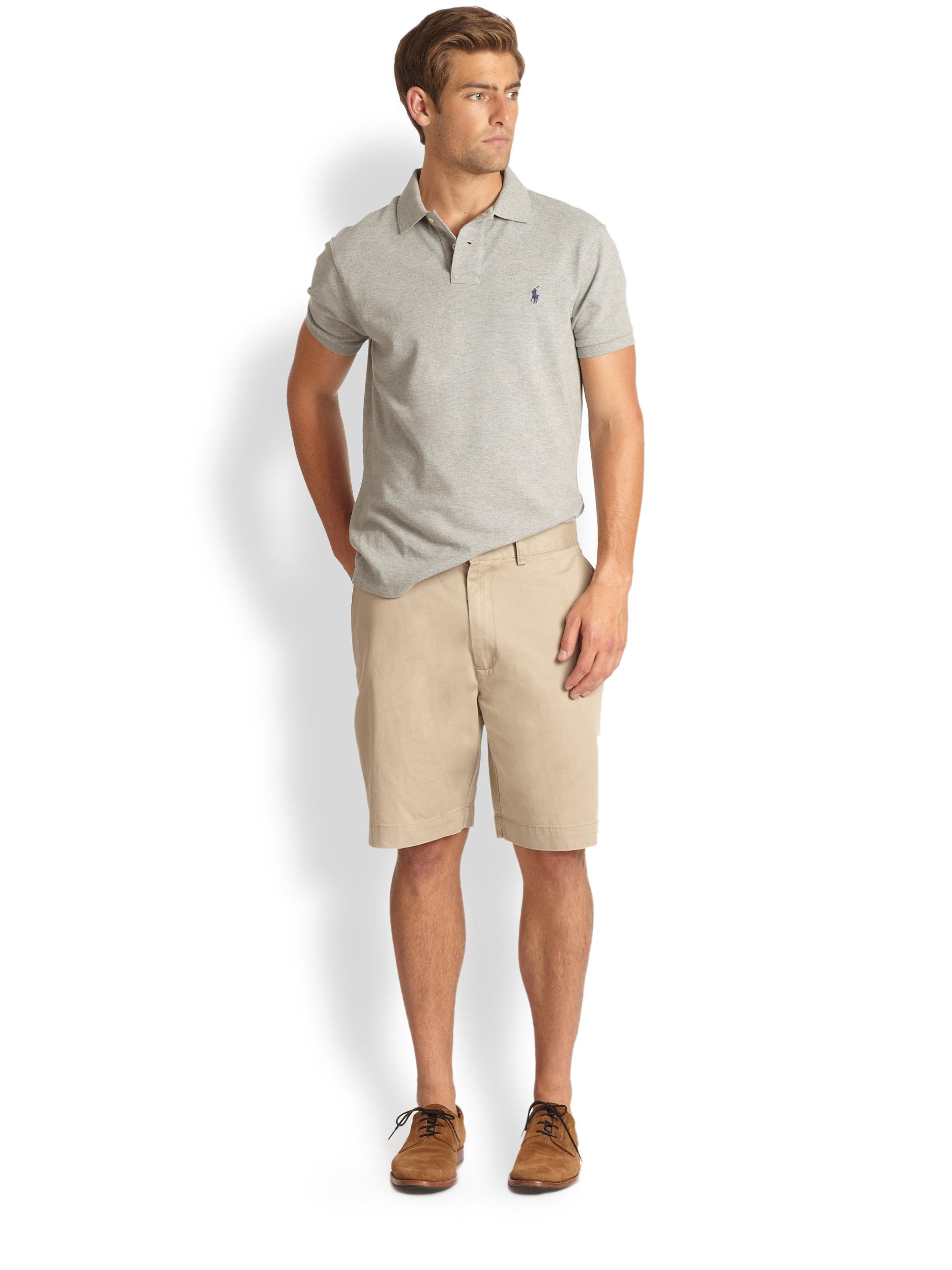 Polo ralph lauren Prospect Shorts in Natural for Men | Lyst