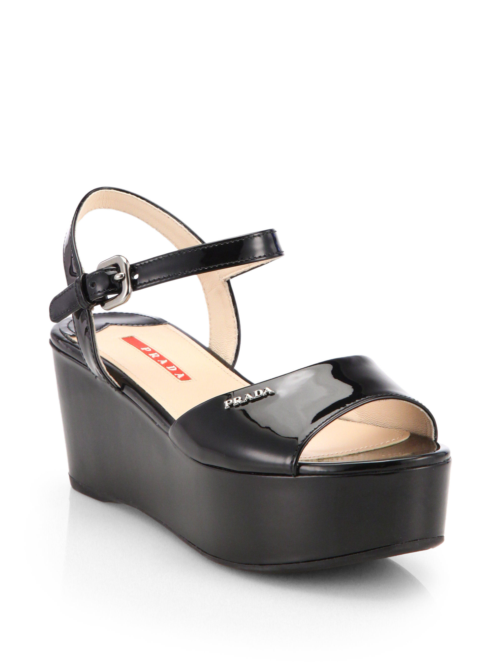 buy cheap lowest price buy online Prada Patent Platform Wedges nicekicks online 2015 new for sale view cheap online llZX6zaPn7