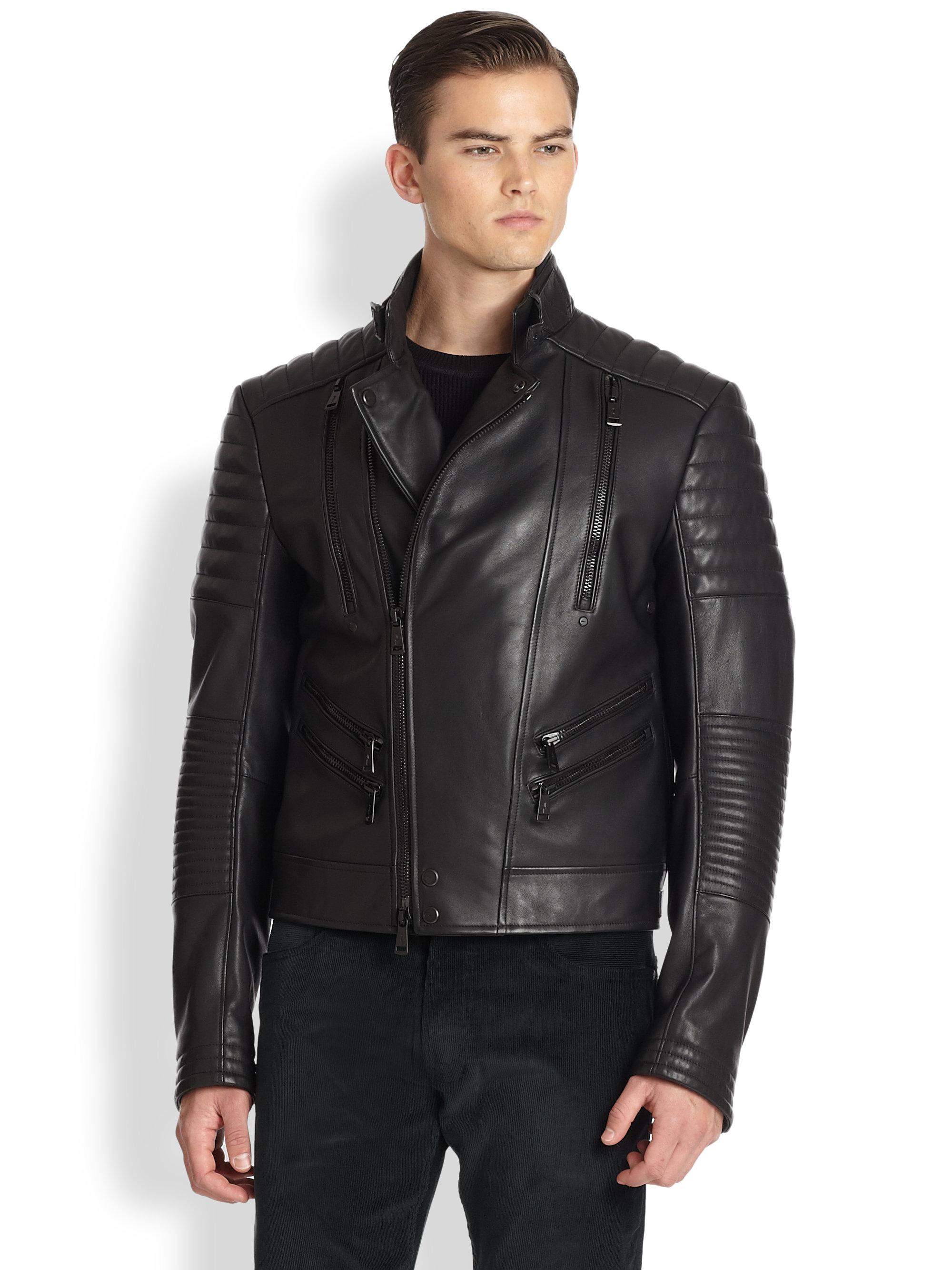 Ralph Lauren Fashion Show At New York: Ralph Lauren Black Label Quilted Zip Motorcycle