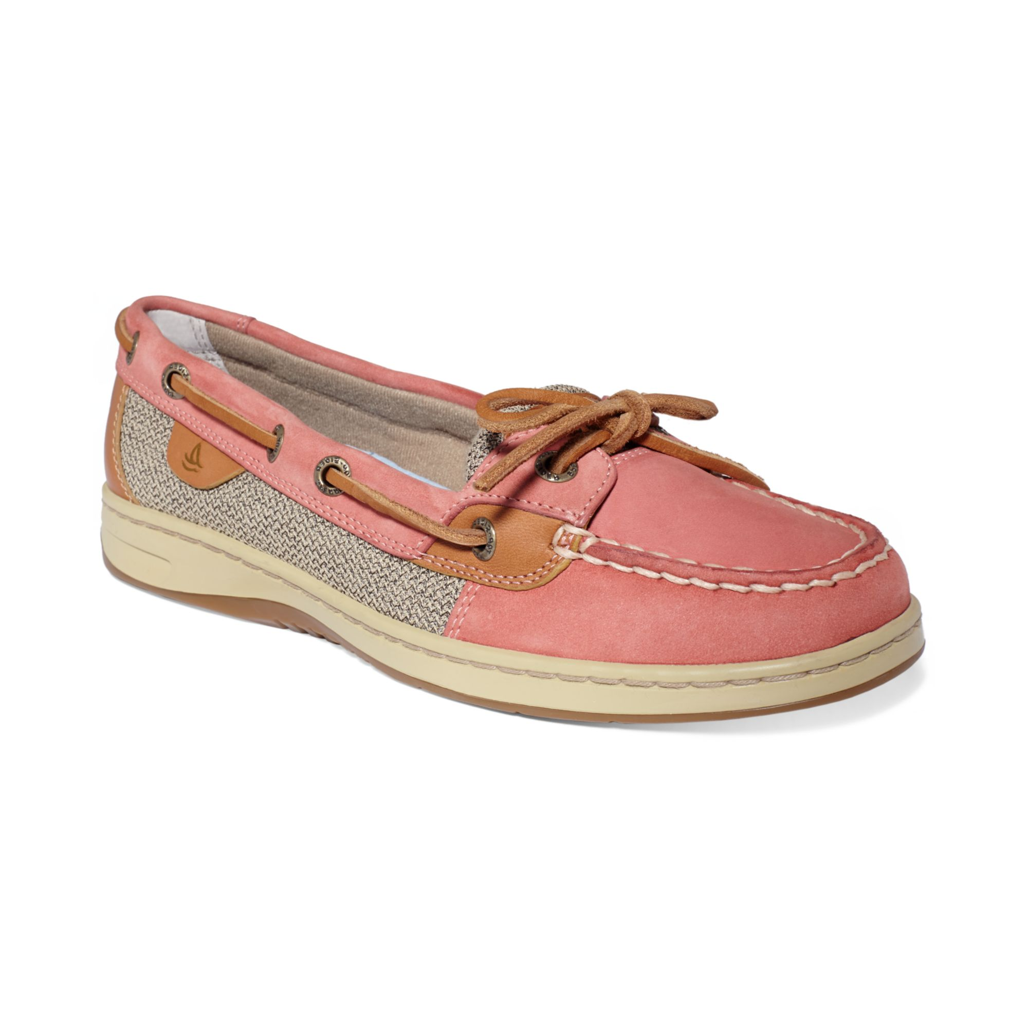Lyst - Sperry Top-Sider Womens Angelfish Boat Shoes in Red 4399fc560
