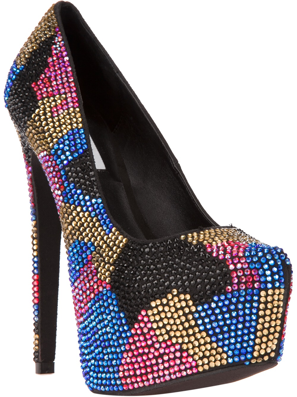 Lyst Steve Madden Dyvinal Embellished Pump In Metallic