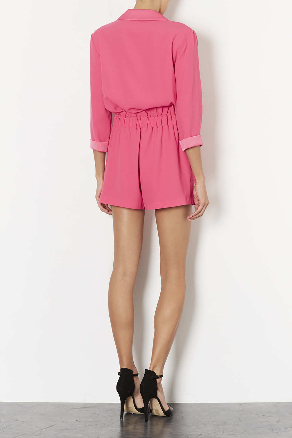 86386976fa Lyst - TOPSHOP Wrap Pyjama Playsuit in Pink